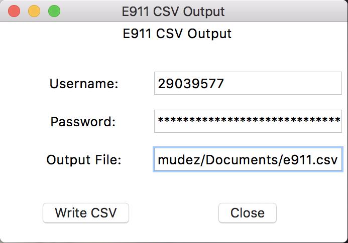 E911 Data Conversion